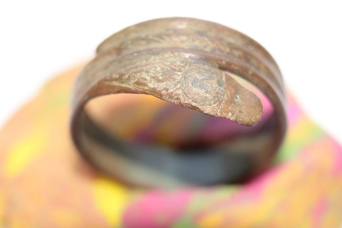 Late - Post Medieval Bronze Snake Ring - 5