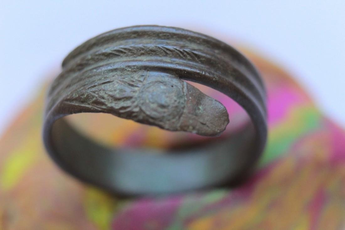 Late - Post Medieval Bronze Snake Ring - 6