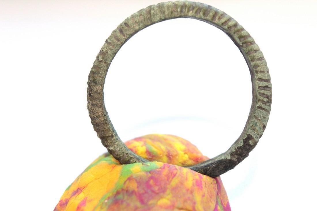 Large Medieval Viking Bronze Amulet Ring - 2