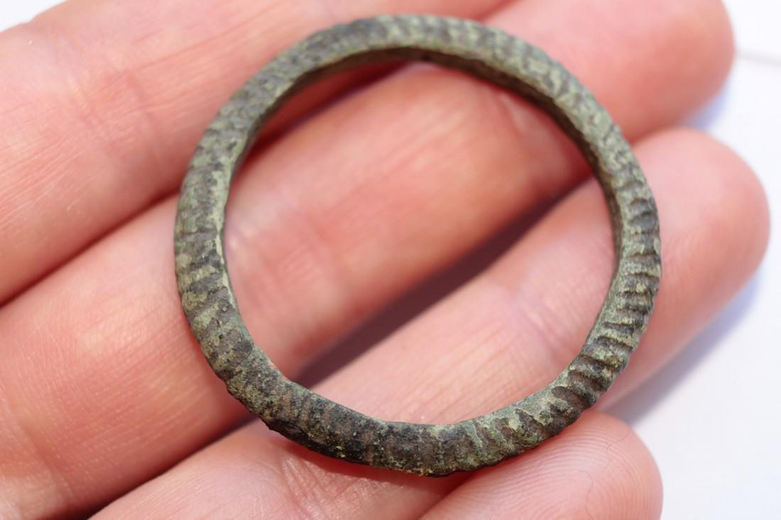 Large Medieval Viking Bronze Amulet Ring - 4