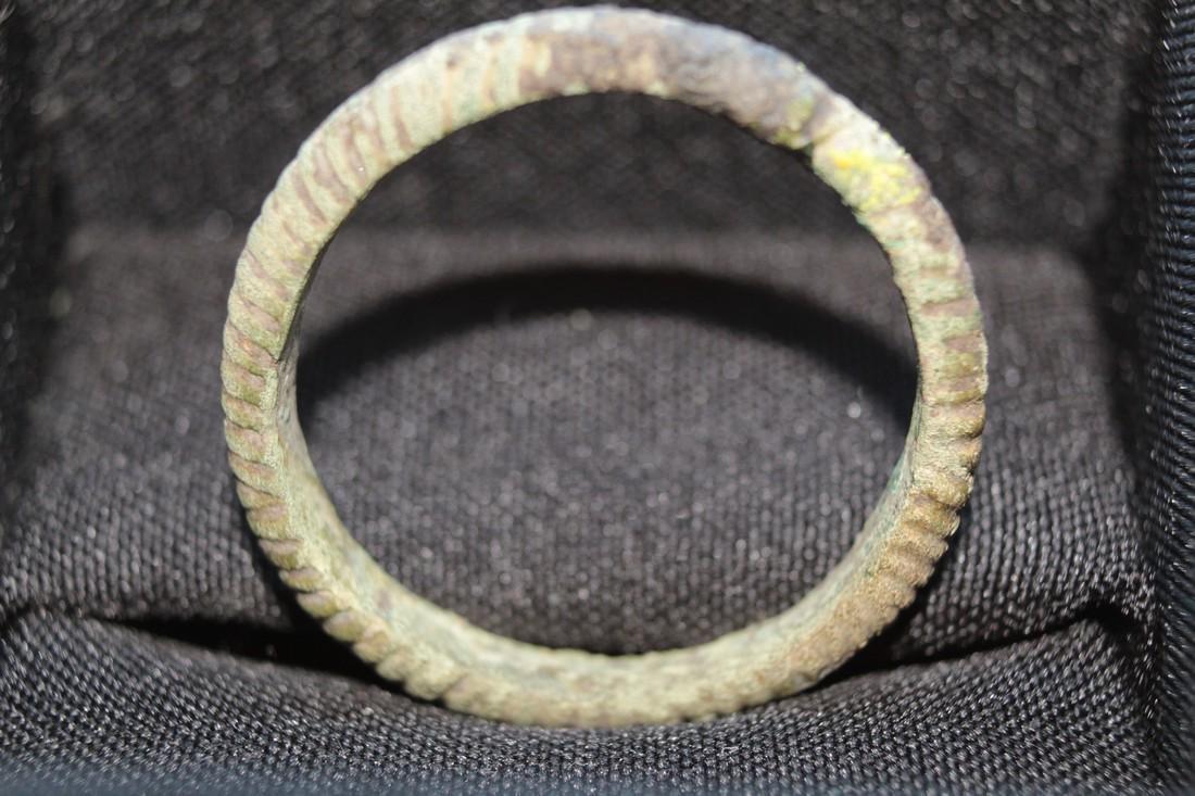 Large Medieval Viking Bronze Amulet Ring - 5