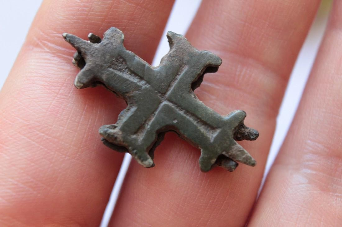 Medieval Bronze Encolpion (Two Parts) - 4