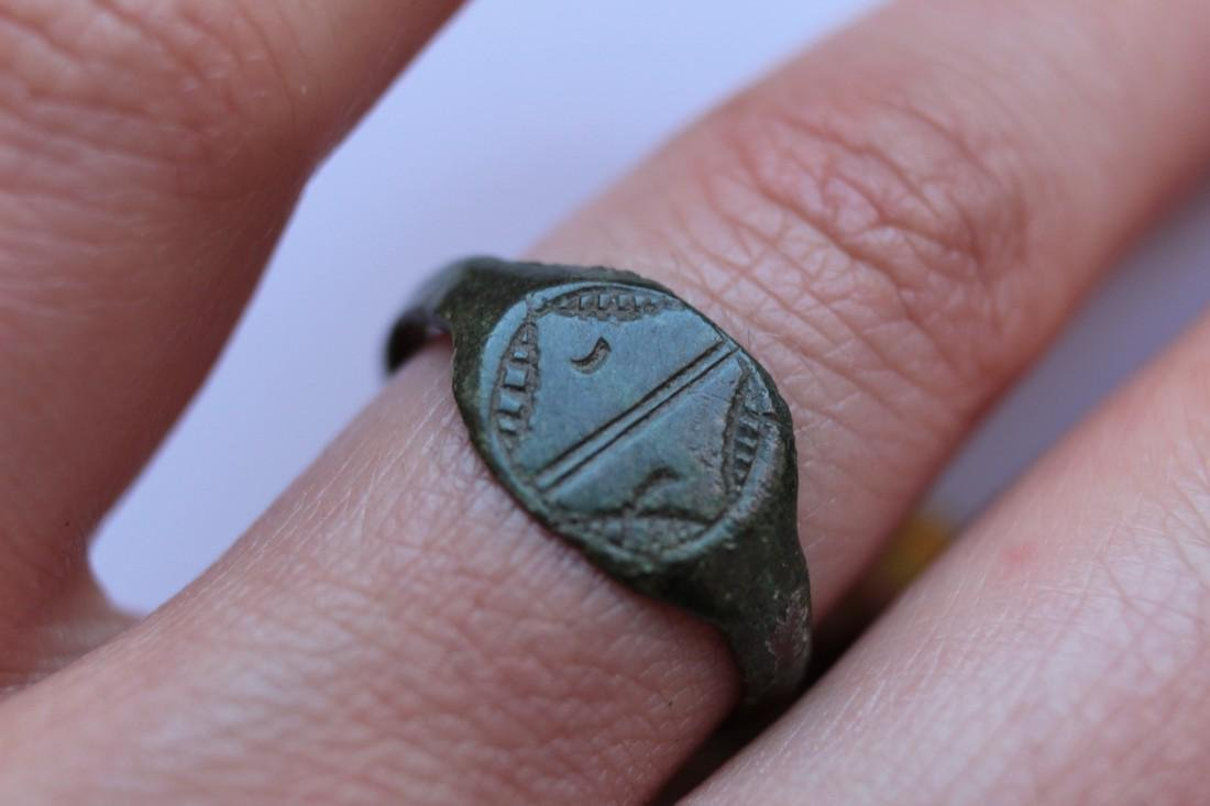 Medieval Bronze Ring With Star