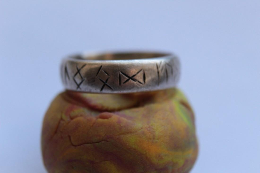 Medieval Silver Ring With Runes - 5