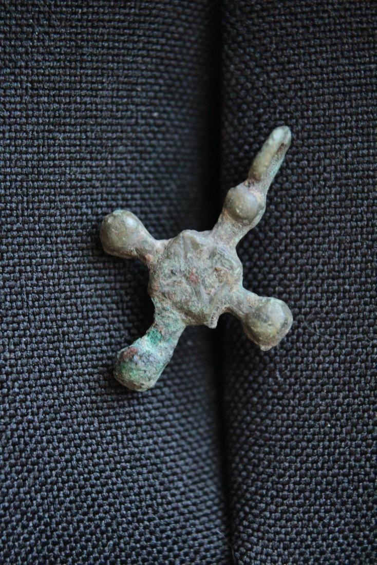 Medieval Viking Bronze Cross Pendant