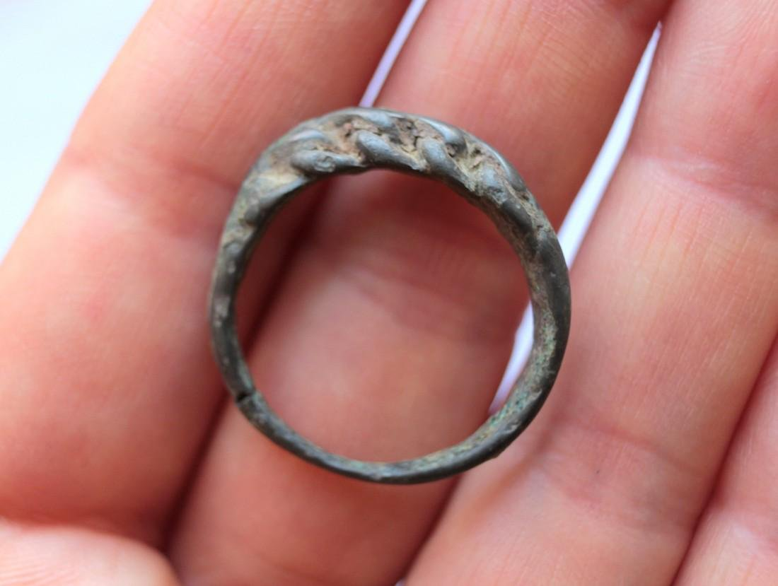 Medieval Viking Twisted Bronze Ring