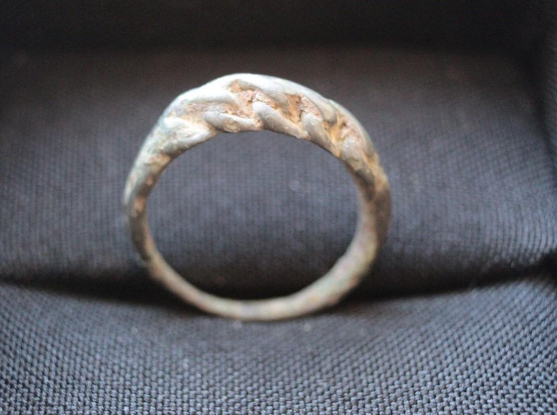 Medieval Viking Twisted Bronze Ring - 2