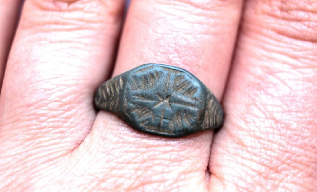 Post Medieval Bethlehem Star Bronze Ring