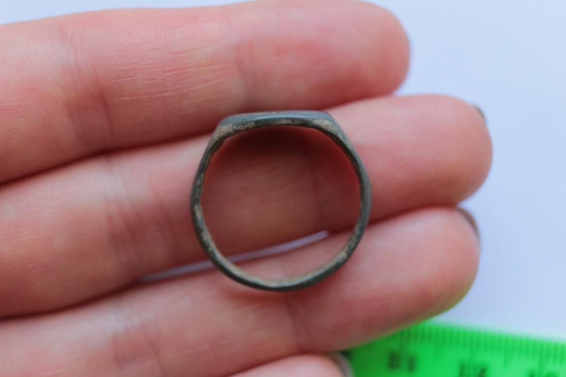 Post Medieval Bethlehem Star Bronze Ring - 2