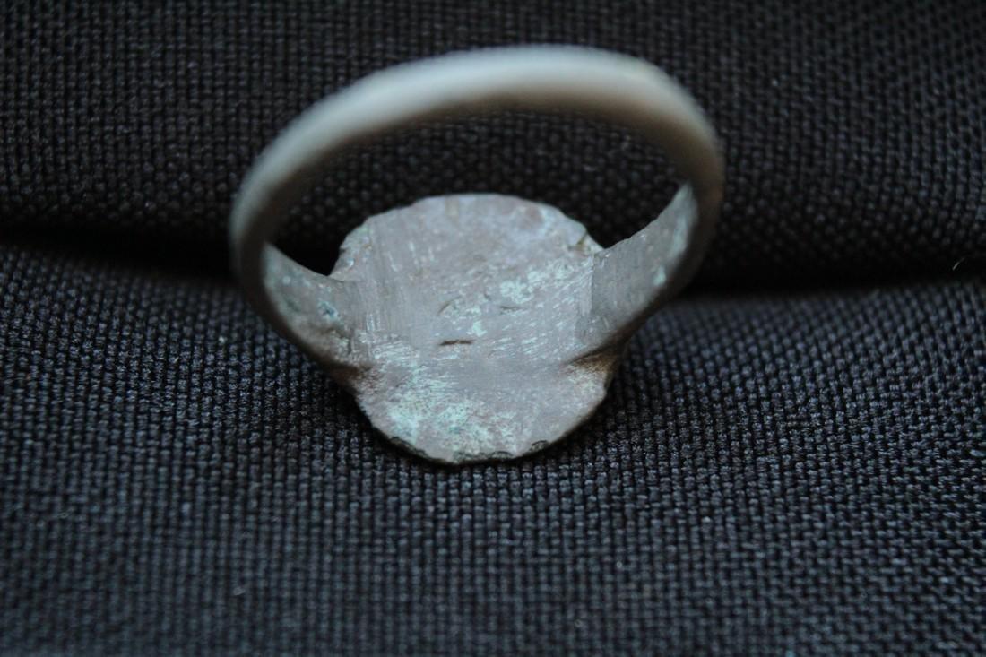 Post Medieval Bronze Ring of Bethlehem Star - 6