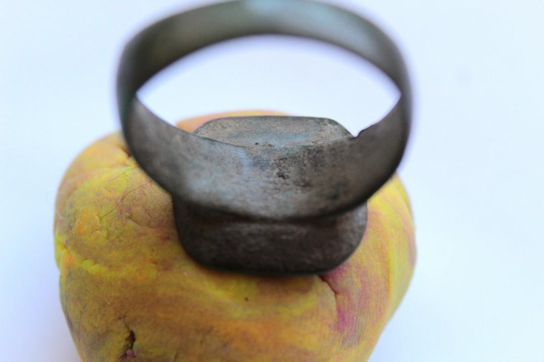 Post Medieval Cossak  Bronze Ring - 7