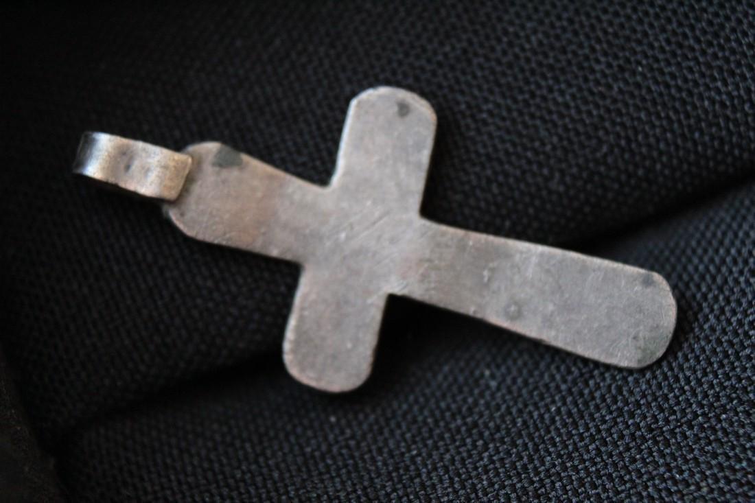 Post Medieval Silver Orthodox Cross Pendant - 2