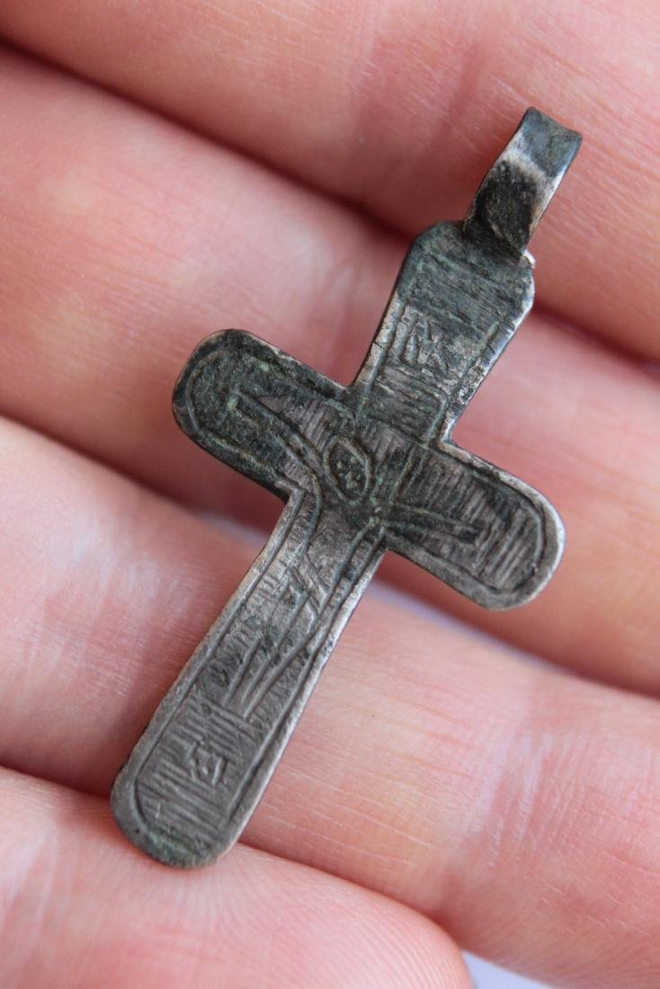 Post Medieval Silver Orthodox Cross Pendant - 6