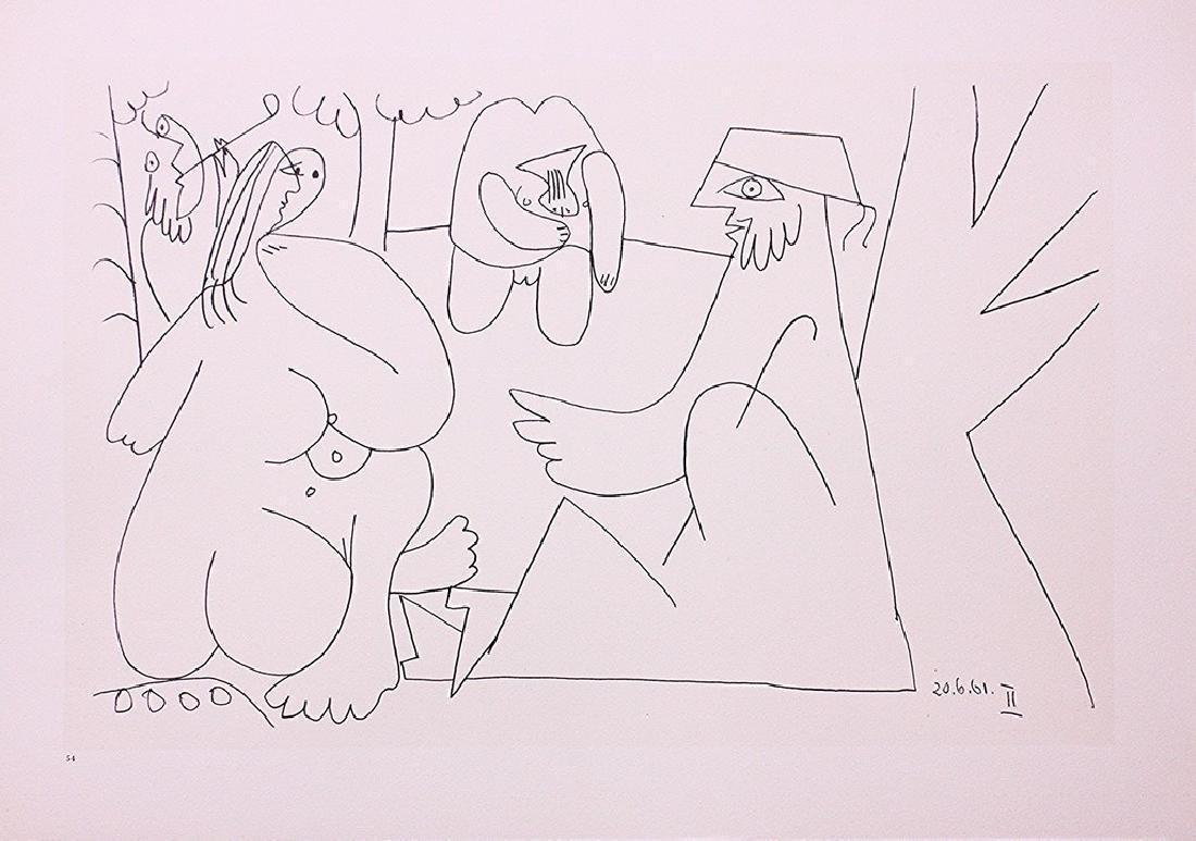 Pablo Picasso - Les Déjeuners, Plate 54 - lithograph