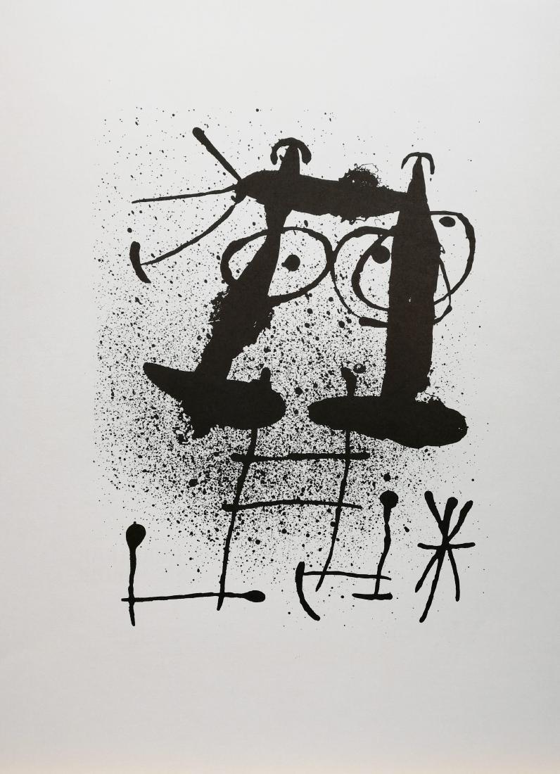 Joan Miró Untitled 1967 Original lithograph