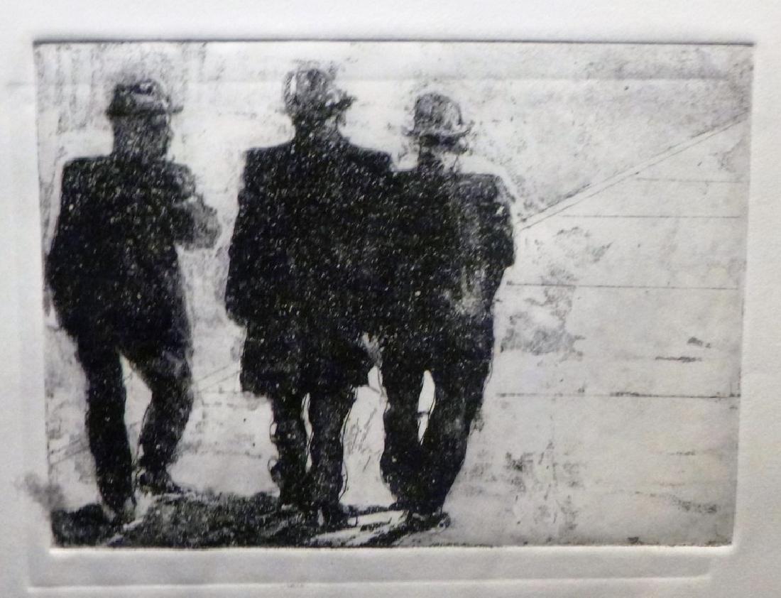 Three Men Lucille Weinstat Original etching