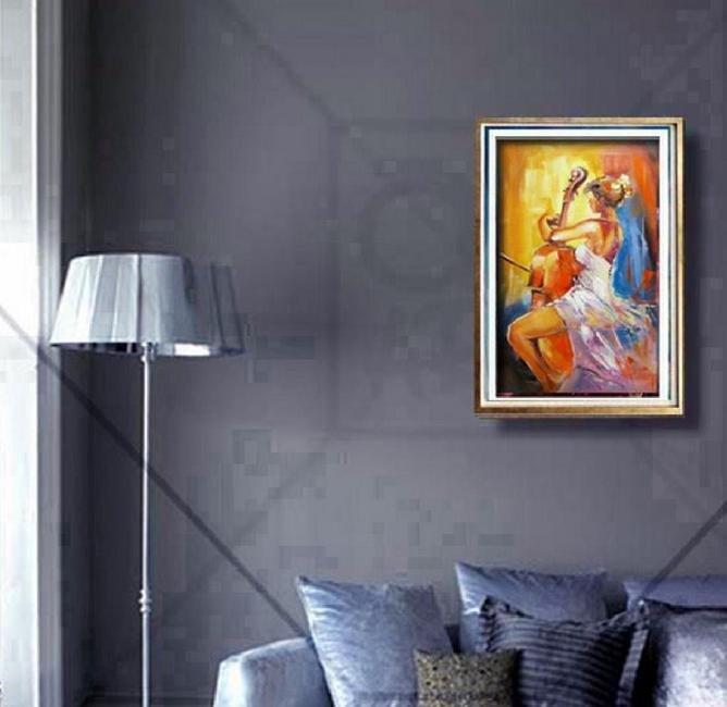Stanisław Wesołowski Muza oil on canvas - 2