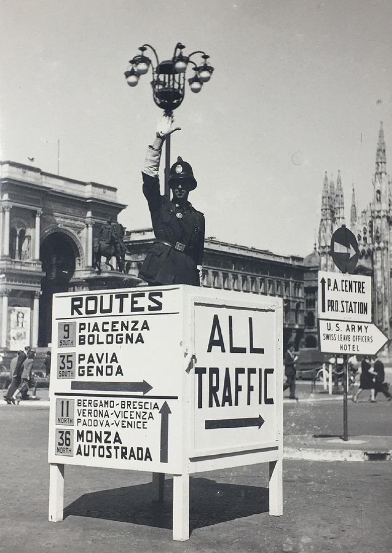 Piazza del Duomo in Milan after the arrival of the