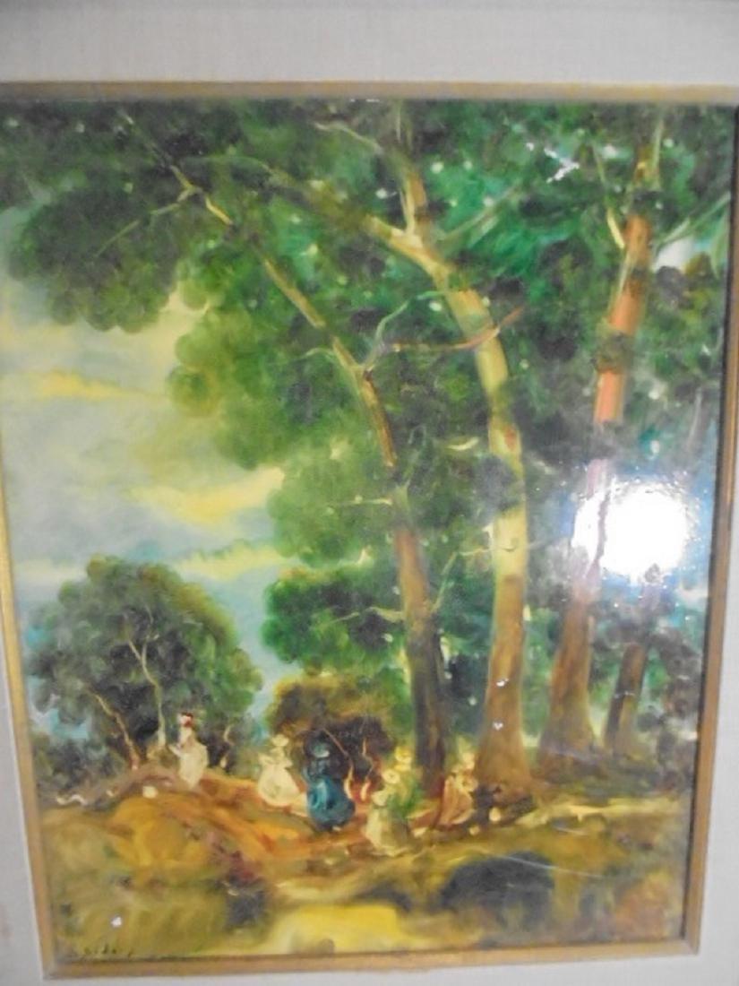 Stephanos Sideris 20th Century Oil Painting