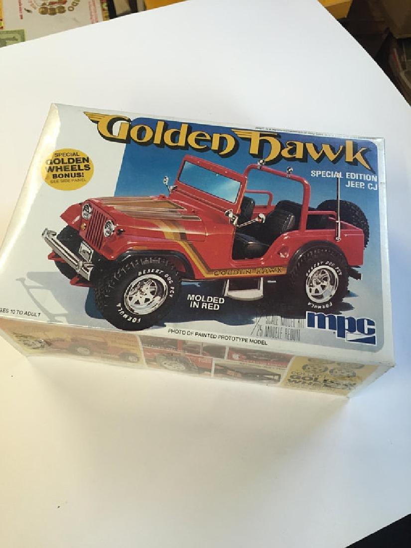 MPC plastics Golden Hawk jeep Car kit 1/25 scale NOS