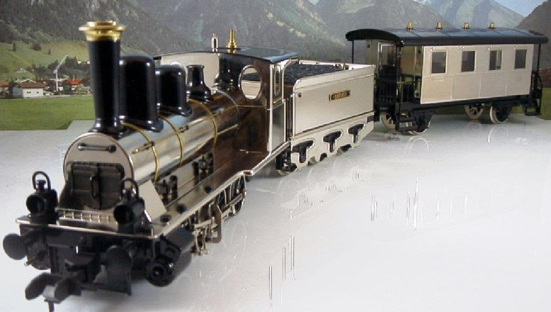 Märklin Maxi  45296/ 45297- Polished Metal  Steam