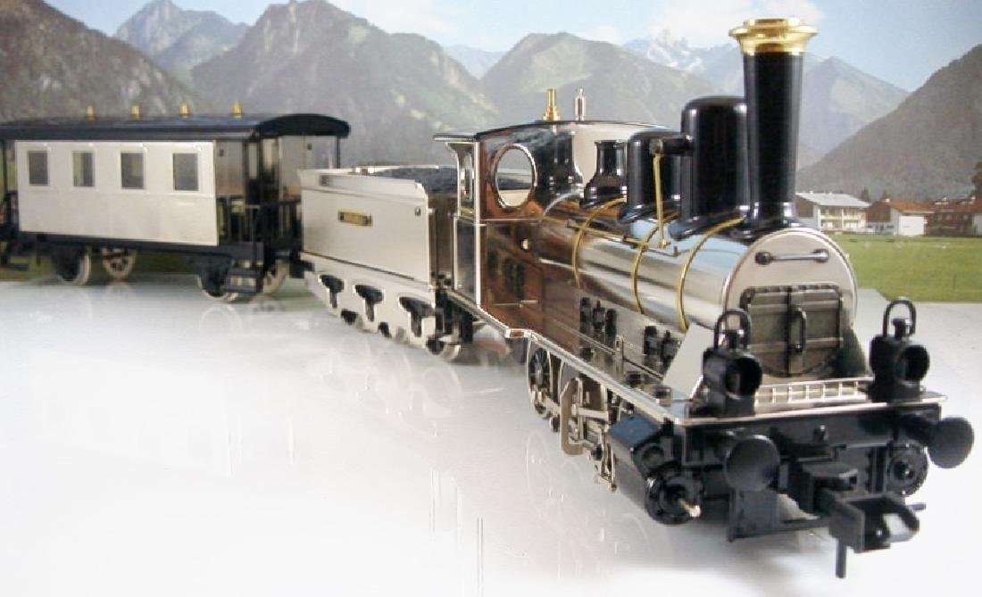 Märklin Maxi  45296/ 45297- Polished Metal  Steam - 2