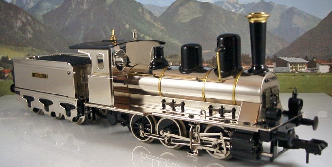 Märklin Maxi  45296/ 45297- Polished Metal  Steam - 3