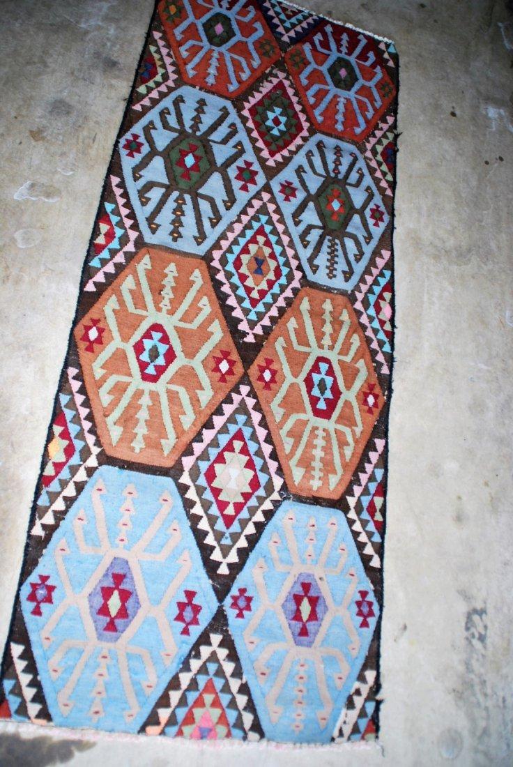 Vintage Tribal Afghan Kilim Rug 7x2.8