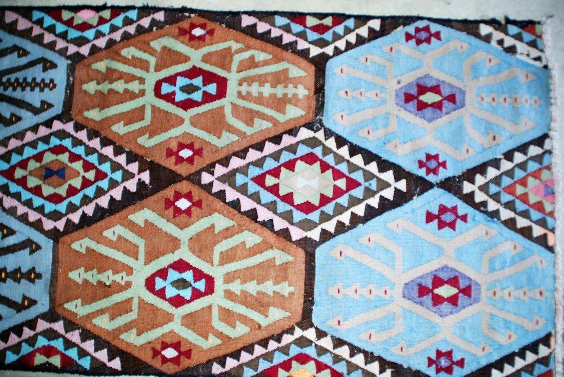 Vintage Tribal Afghan Kilim Rug 7x2.8 - 2