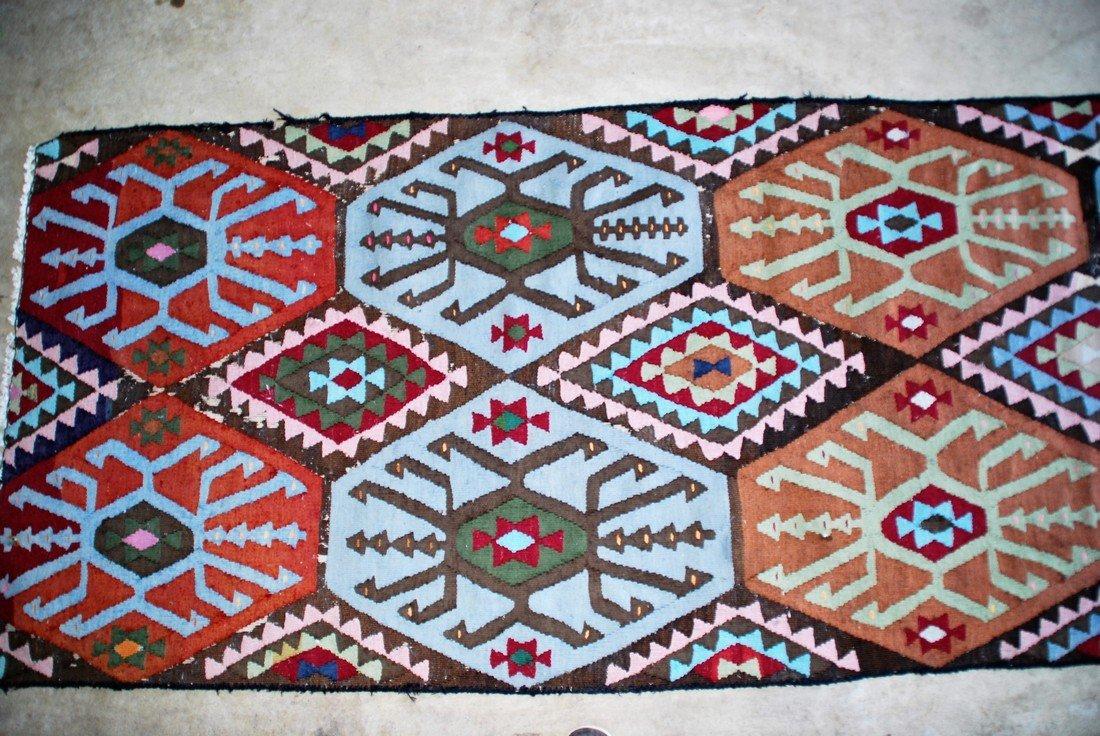 Vintage Tribal Afghan Kilim Rug 7x2.8 - 3
