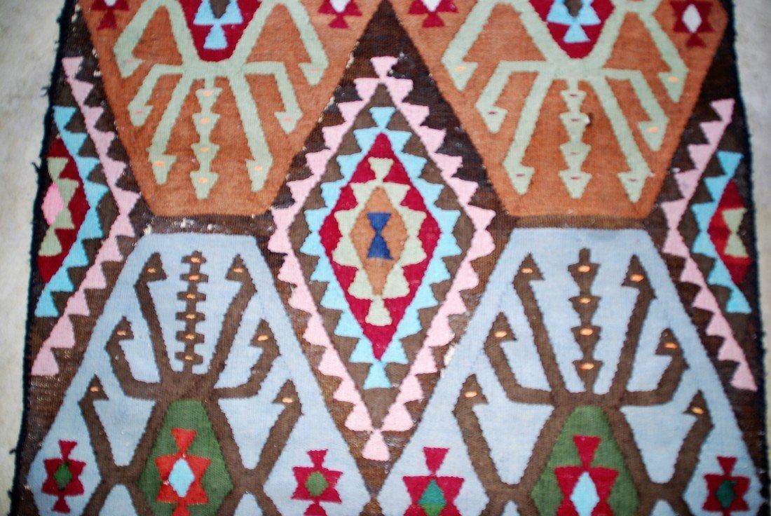 Vintage Tribal Afghan Kilim Rug 7x2.8 - 4