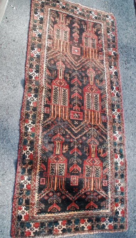 Antique Persian Rug 7x3