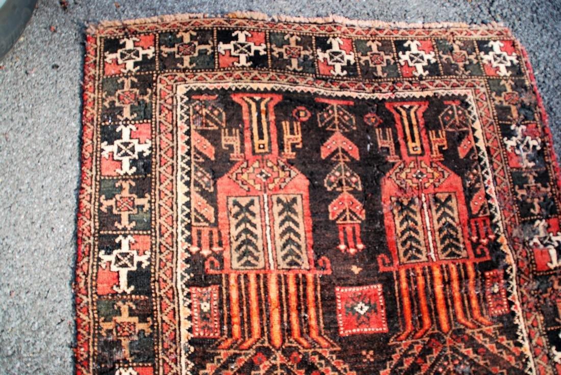 Antique Persian Rug 7x3 - 3