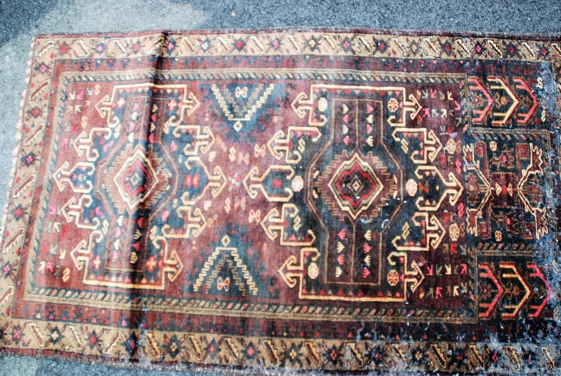hand knotted Persian mid-century Rug 3x4.8