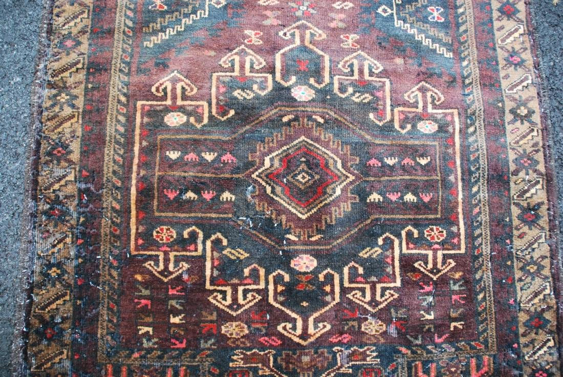 hand knotted Persian mid-century Rug 3x4.8 - 2