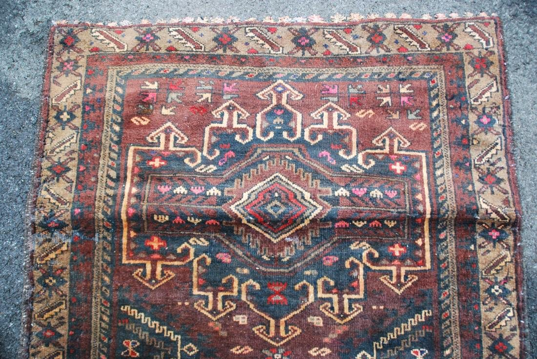 hand knotted Persian mid-century Rug 3x4.8 - 3