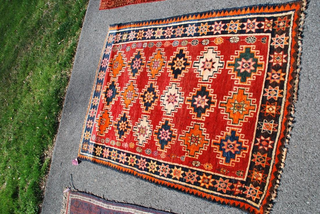 Vintage Afghan Kazak Rug 5.6x4