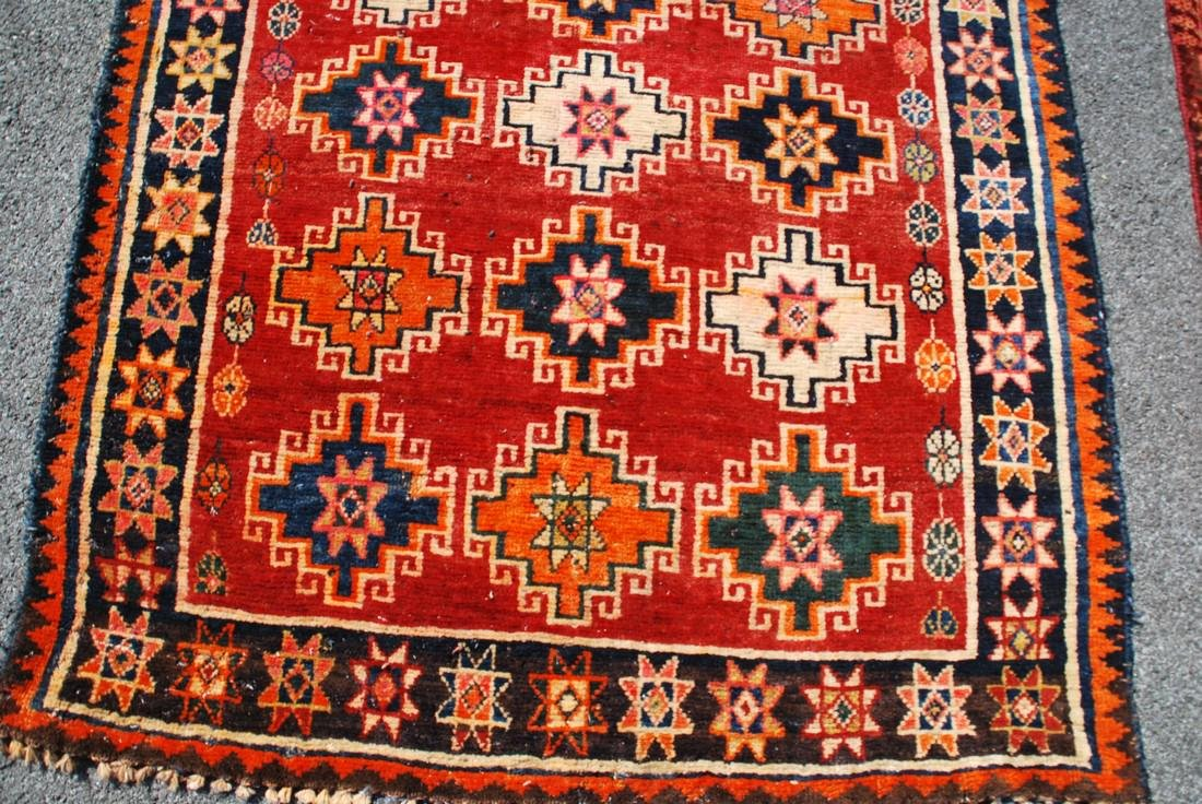 Vintage Afghan Kazak Rug 5.6x4 - 2