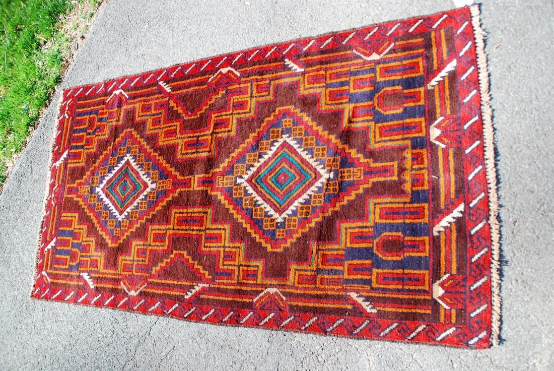 Vintage Afghan Baluch Rug 6.2x3.4