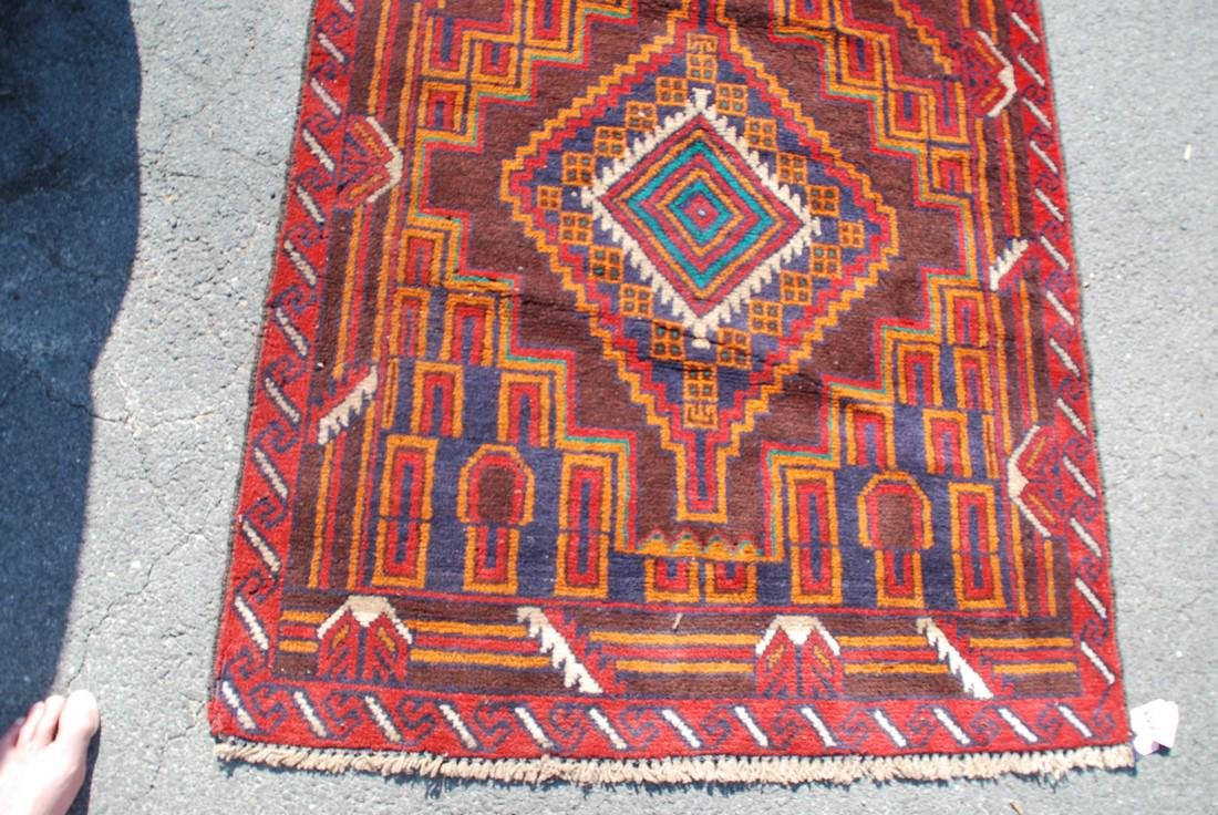 Vintage Afghan Baluch Rug 6.2x3.4 - 2