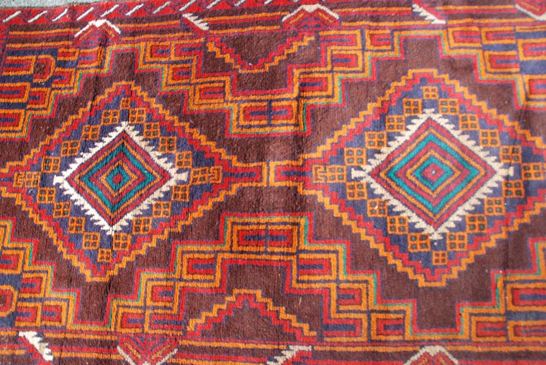 Vintage Afghan Baluch Rug 6.2x3.4 - 3
