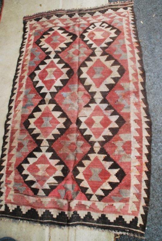 Antique Afghan Kilim Rug 5.3x3