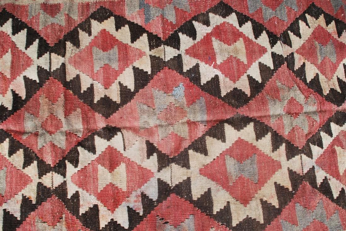 Antique Afghan Kilim Rug 5.3x3 - 2