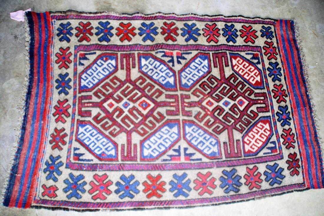 Antique Kazak Sumak Rug 3.10x2.7