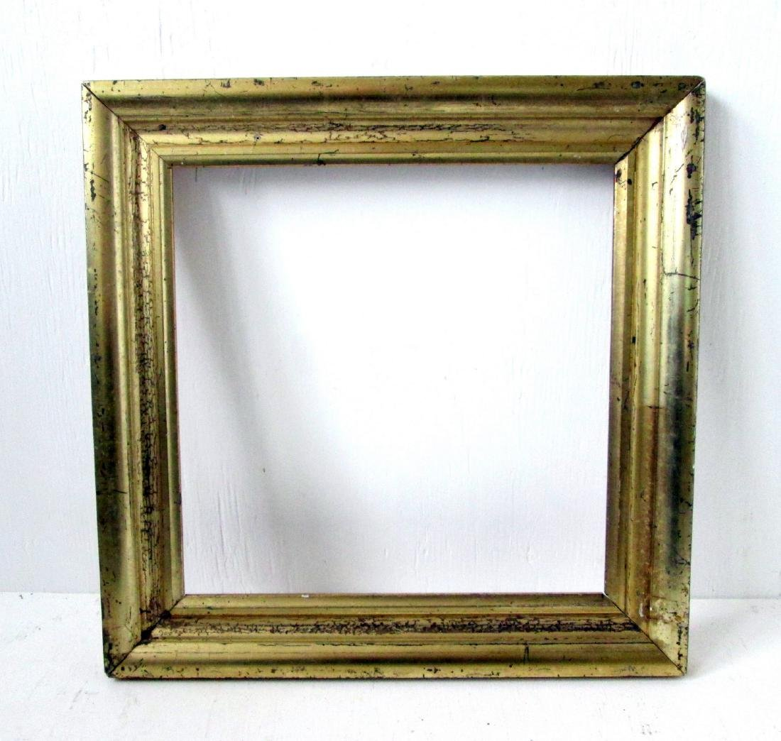 C 1820 Gilded Pine Picture Frame