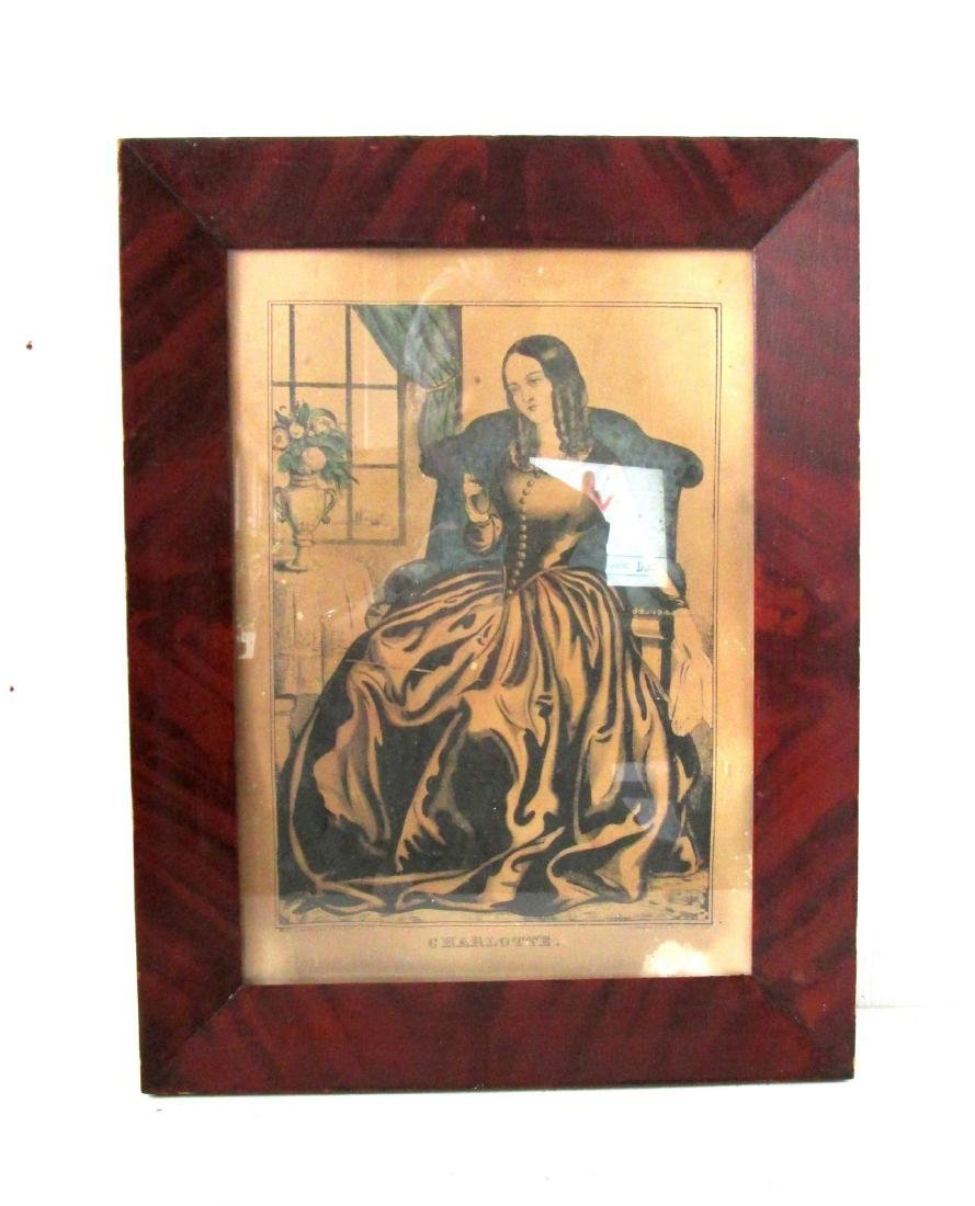 C 1820 Grain Painted Picture Frame