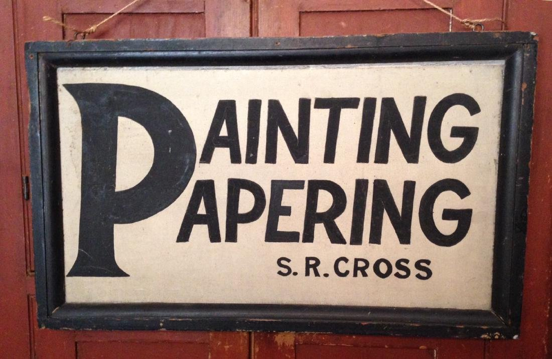 C1900 Bold Trade Sign in Gc.