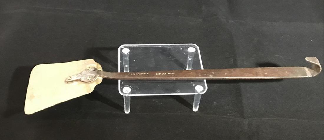 Iron and brass spatula; signed F.B.S. Canton, O - 2