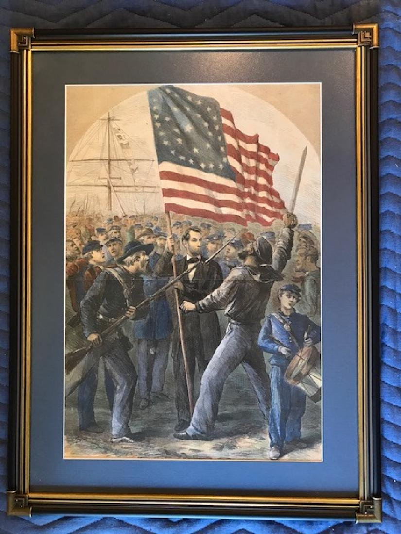Rally around the Flag - Lincoln - Harper's Weekly