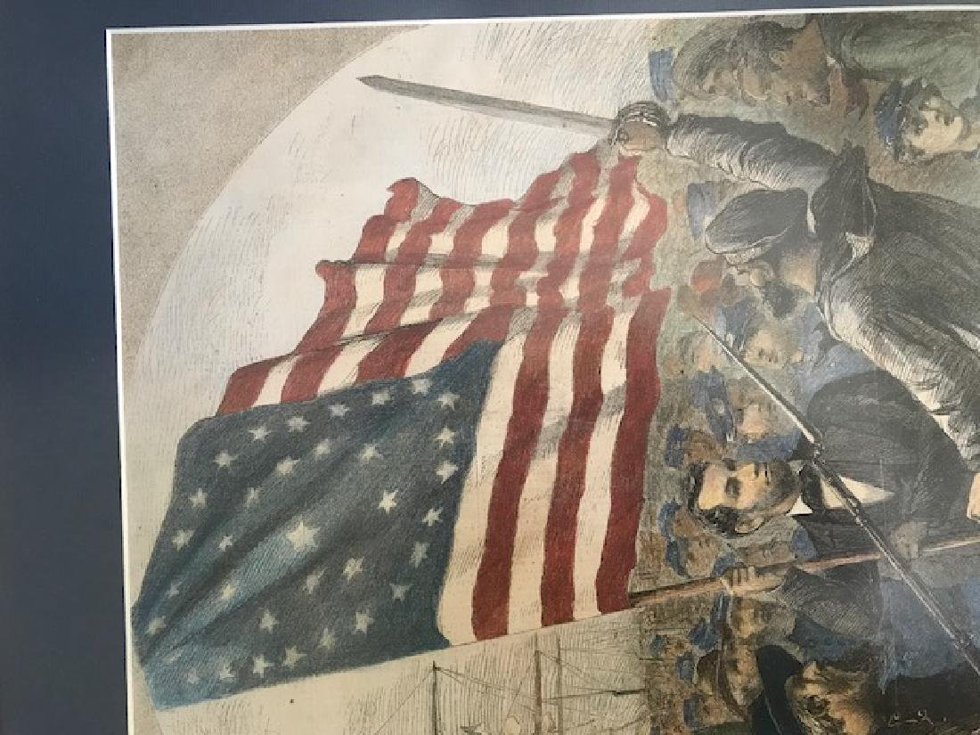 Rally around the Flag - Lincoln - Harper's Weekly - 3